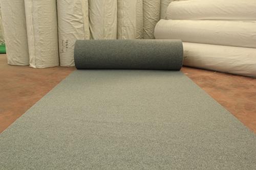 烟灰拉绒展览地毯