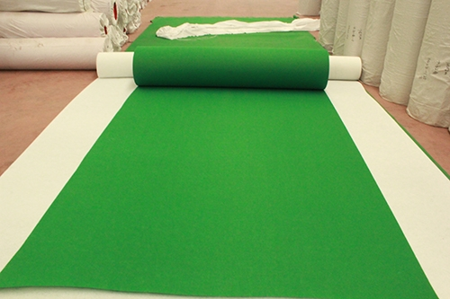常规绿平纹展览地毯批发