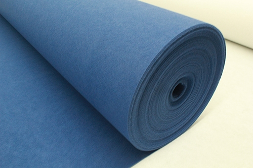 蓝平纹展览地毯