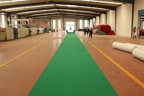 绿平纹活动地毯