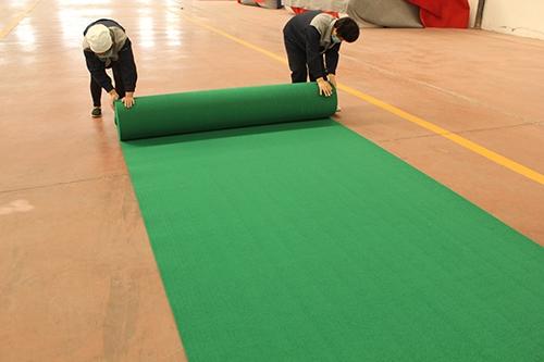 绿平纹地毯批发